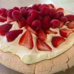 Berry Pavlova, traditional Australian dessert