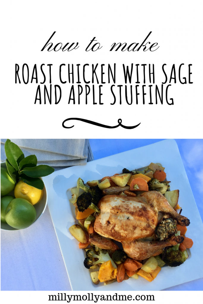 Roast Chicken with Sage and Apple Stuffing