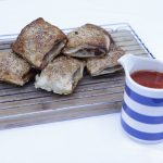 Sausage Rolls and Homemade Tomato Sauce