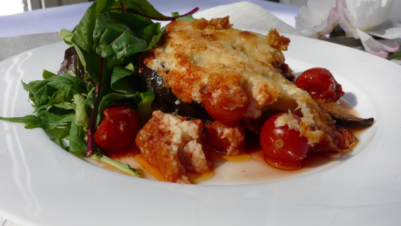 Eggplant and Cherry Tomato Bake