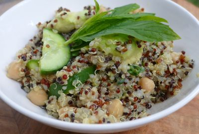 Quinoa Avocado and Chickpea Salad