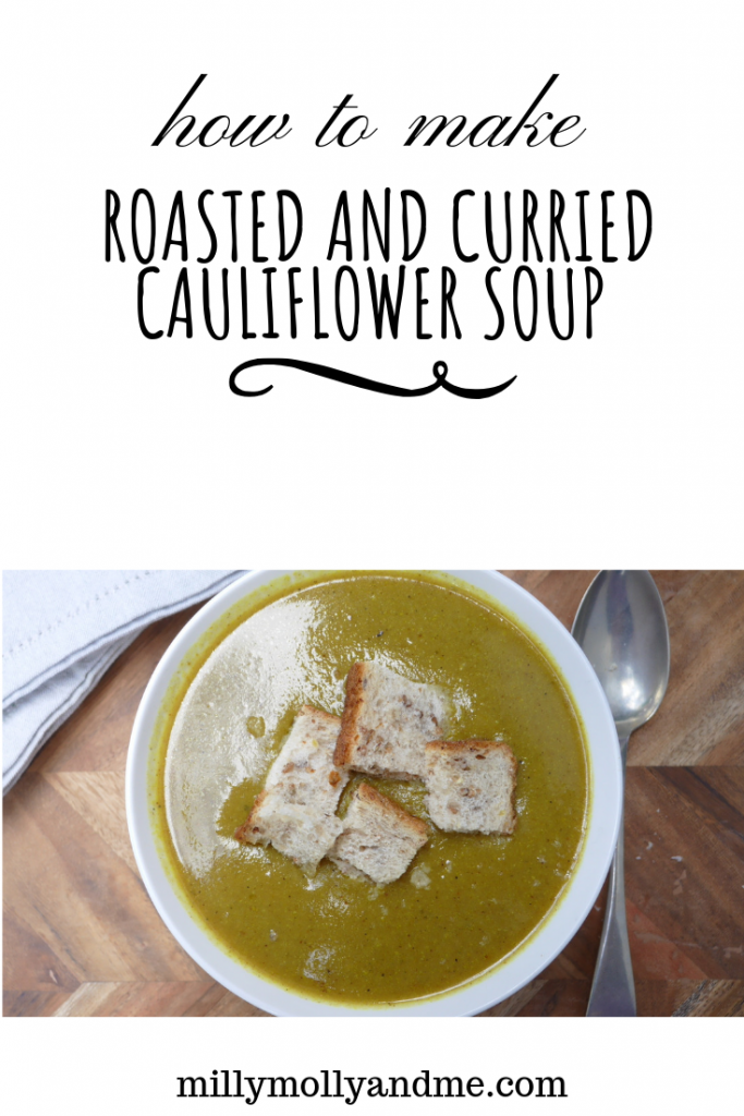 Roasted and Curried Cauliflower Soup