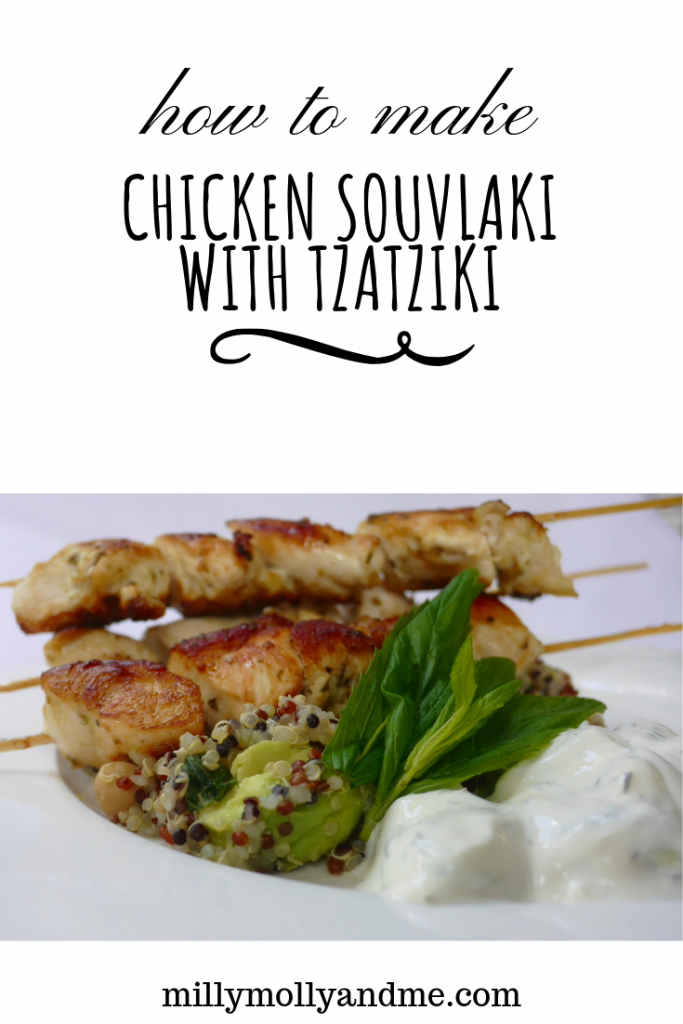 How to make chicken souvlaki with tzatziki