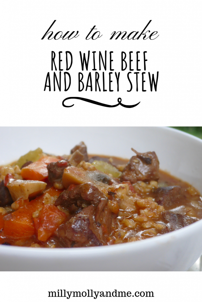 How To Make Red Wine Beef and Barley Stew