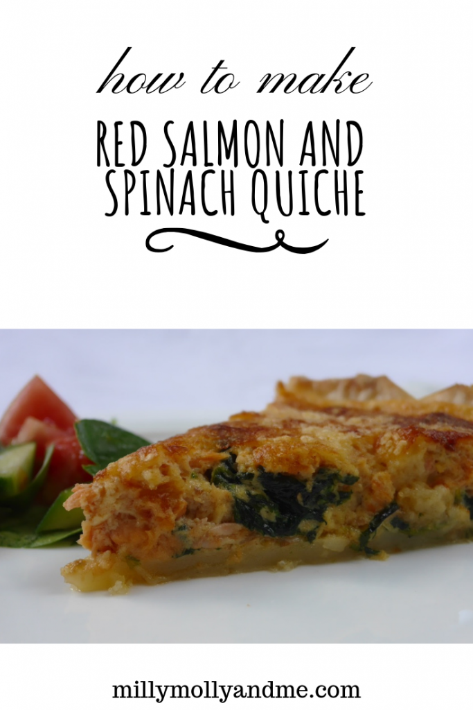 How to Make Red Salmon and Spinach Quiche