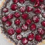 Rich Chocolate, Caramel and Raspberry Tart