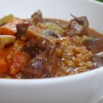Red Wine, Beef and Barley Stew