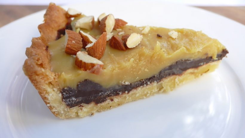 Rustic Caramel and Chocolate Ganache Tart