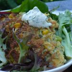 Crispy Vegetable Fritters with Dill Tzatziki