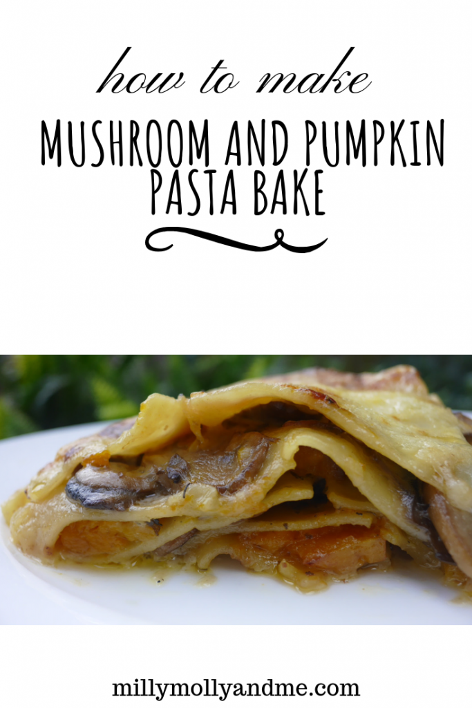 Mushroom and Pumpkin Pasta Bake Pin