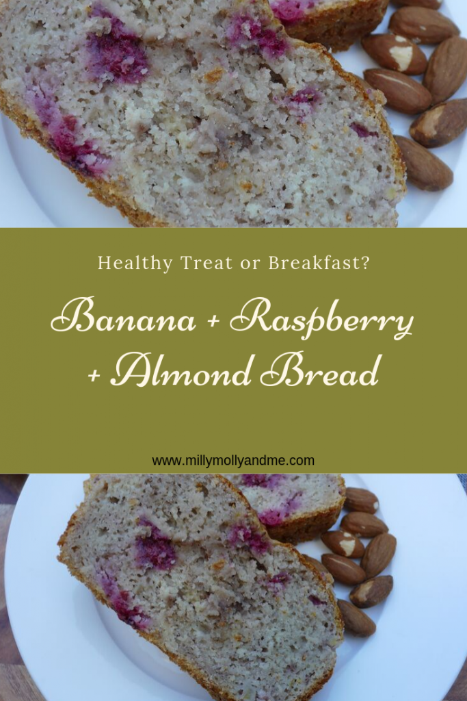 Banana Raspberry Almond Bread Pin