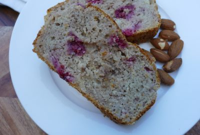 Banana Raspberry Almond Bread