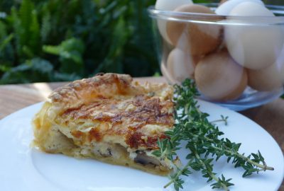 Mushroom and Thyme Quiche