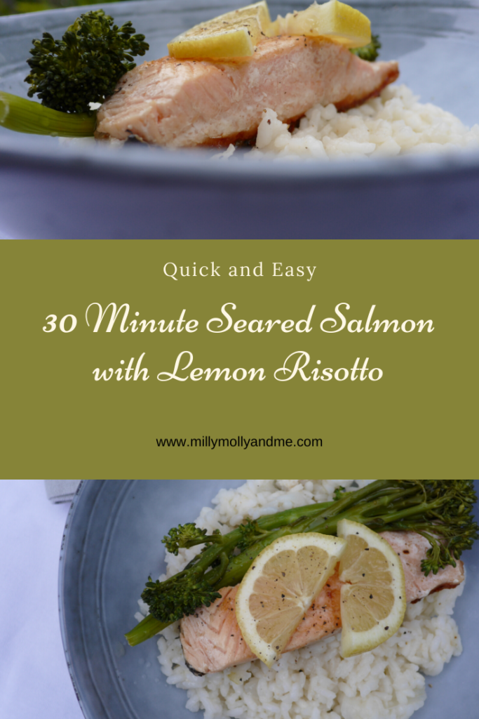 30 Minute Seared Salmon with Lemon Risotto