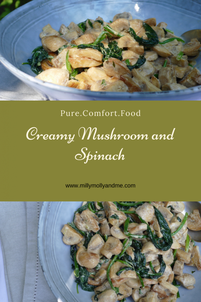 Creamy Mushroom and Spinach Pin