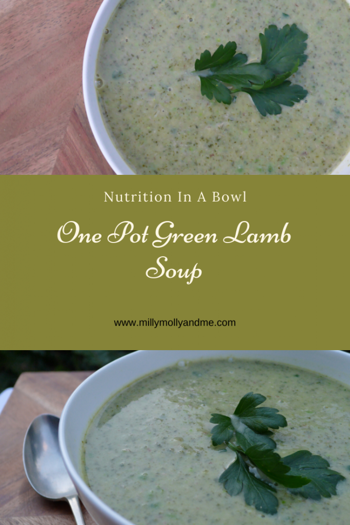One Pot Green Lamb Soup PIn
