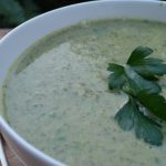 One Pot Green Lamb Soup with spoon