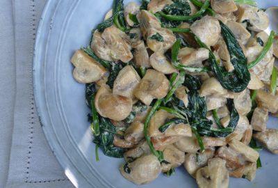 Creamy Mushroom and Spinach Ragout