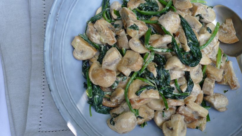 Creamy Mushroom and Spinach Ragout