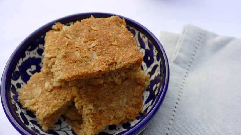Simple Oat and Coconut Slice Birdseye