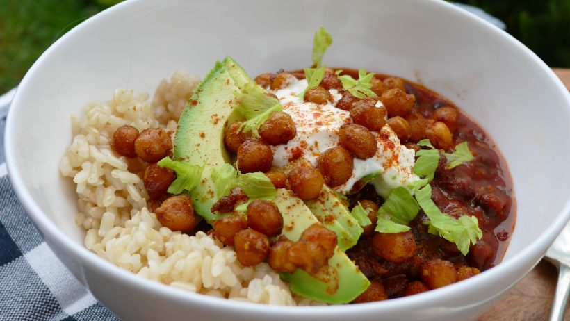 Black Bean Chilli Health Bowl