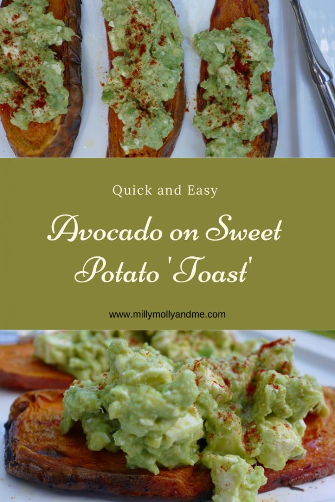 Avocado on Sweet Potato 'Toast' Pin