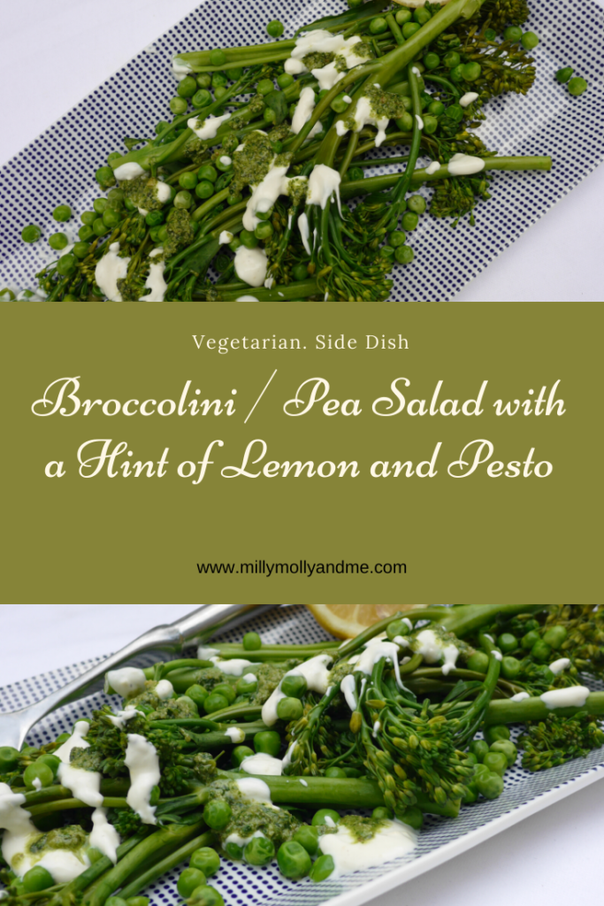 Broccolini / Pea Salad with a Hint of Lemon and Pesto