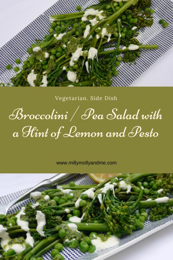 Broccolini / Pea Salad with a Hint of Lemon and Pesto