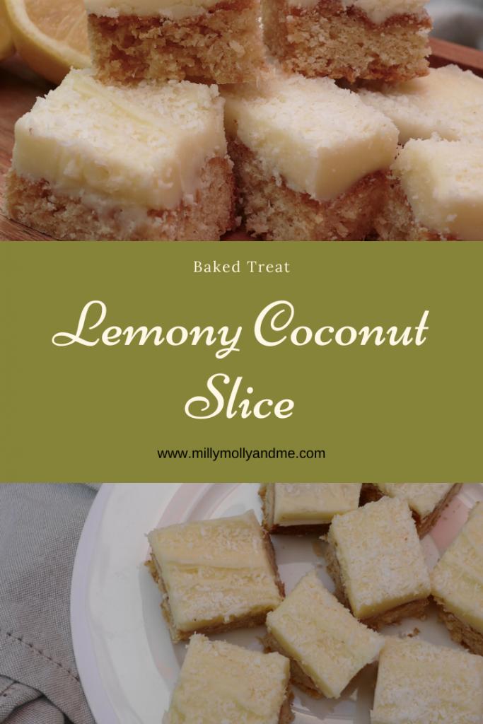 Lemony Cconut Slice Pin