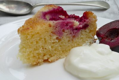 Pure and Simple Plum Cake