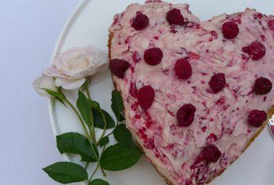 Raspberry Vanilla 'Love' Cake