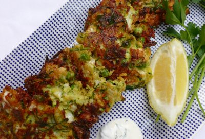 Zucchini and Cauliflower Fritters