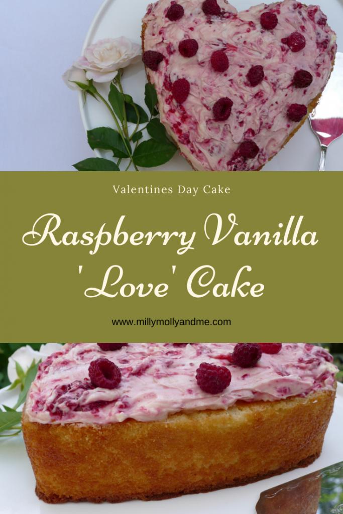 Raspberry Vanilla 'Love' Cake Pin