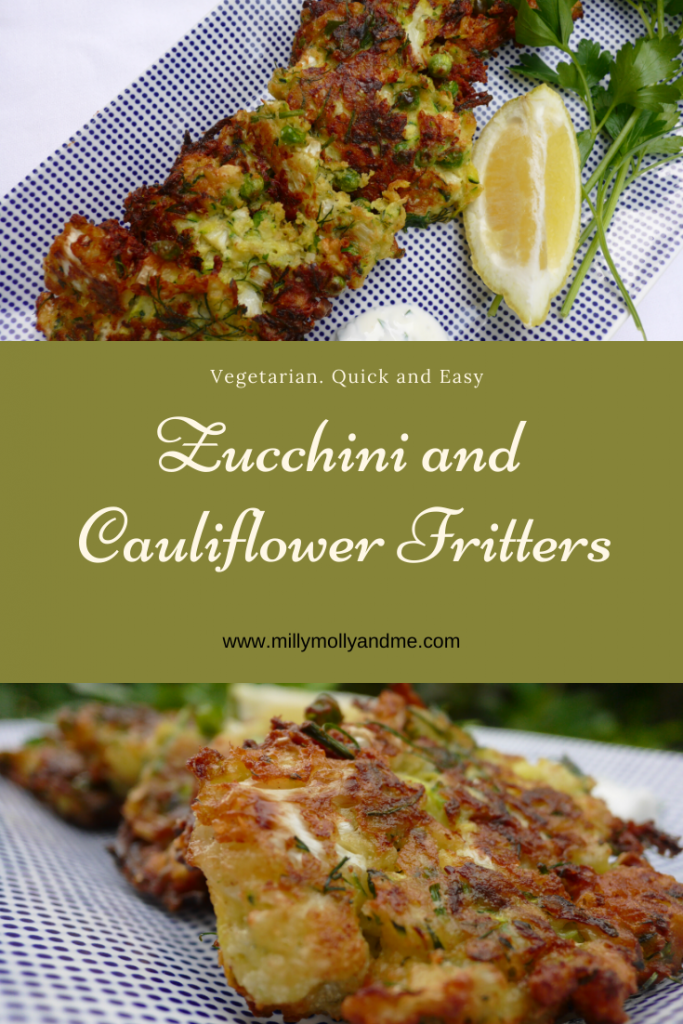 Zucchini and Cauliflower Fritters Pin