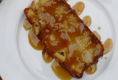 Pear and Caramel Cake