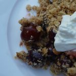 Cherry and Apple Crumble