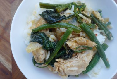 Simple Chilli Chicken and Green Vegetable Stir Fry