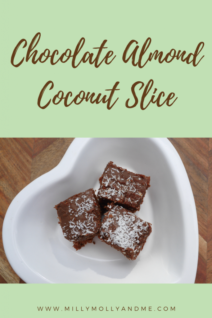 Chocolate Almond Coconut Slice Pin
