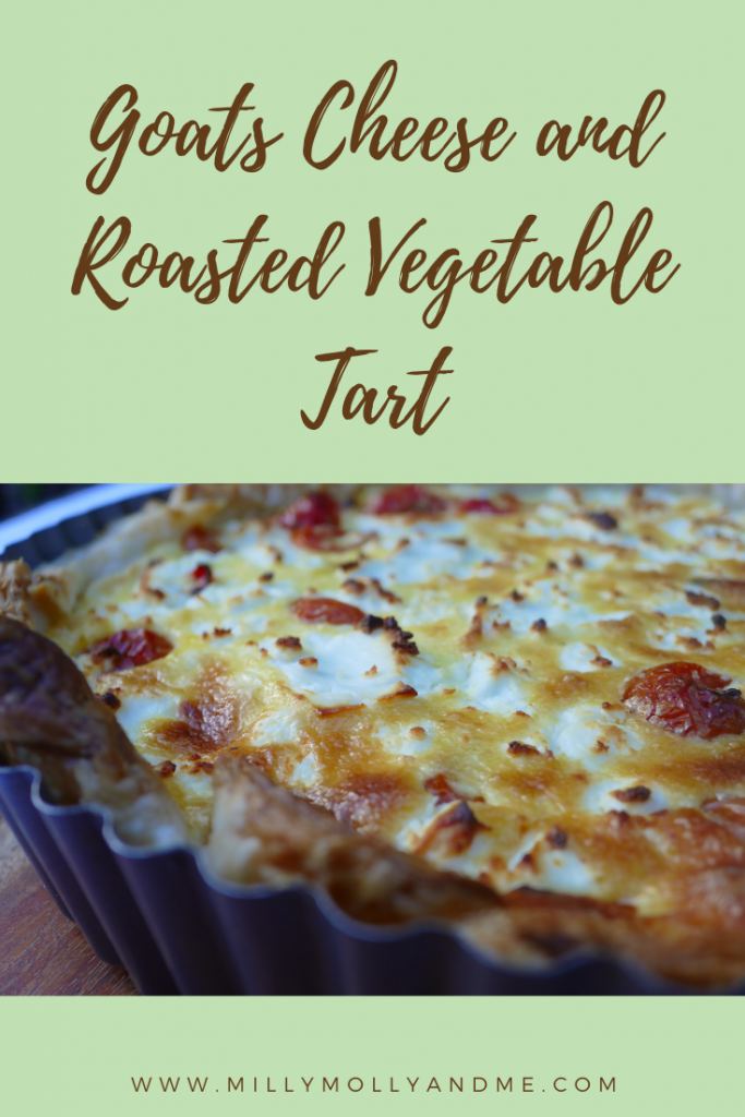 Goats Cheese and Roasted Vegetable Tart